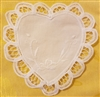 "6"" Battenburg Lace White Cotton Heart Shape Crochet Doilies, 12 ct"