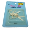 Ivory Satin Ribbon Bows with Rhinestone Center, pack of 2