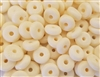 11mm Round Donut Circle Genuine Bone Beads, 8 ct Bag