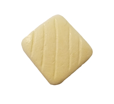 20mm Square Hand-Carved Genuine Bone Beads, 8 ct Bag