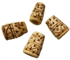 28mm Hand-Carved Genuine Bone Beads 4ct Bag