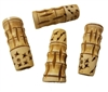 52mm Hand-Carved Genuine Bone Beads 4ct Bag