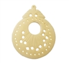"1-5/8"" Hand-Carved Genuine Bone Bead Pendant"