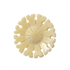 Round Flower Hand-Carved Genuine Bone Bead Pendant, 4 ct Bag