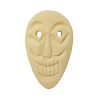 Medium Tiki Mask Hand-Carved Genuine Bone Bead Pendant