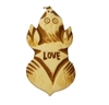 """Love"" Animal Hand-Carved Genuine Bone Bead Pendant"