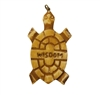 "Turtle ""Wisdom"" Hand-Carved Genuine Bone Bead Pendant"