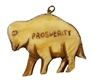 "Buffalo Bison ""Prosperity"" Hand-Carved Genuine Bone Bead Pendant"