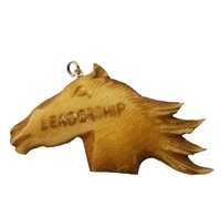 "Horse ""Leadership"" Hand-Carved Genuine Bone Bead Pendant"