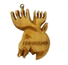 "Moose ""Friendship"" Hand-Carved Genuine Bone Bead Pendant"