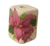 19mm Rectangular Painted Floral Ceramic Beads 4ct Bag