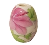 20mm Oval Painted Floral Ceramic Beads 4ct Bag