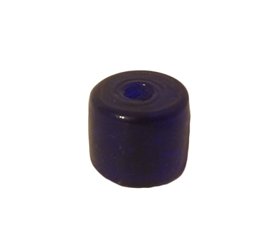 16mm Drum Cobalt Blue Glass Beads, 4ct Bag