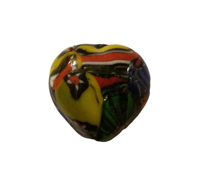 Heart-Shaped Multi-Color Mosaic Glass Beads, 4ct Bag