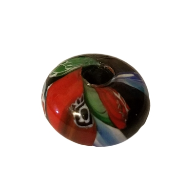20mm Disc Saucer Multi-Color Mosaic Glass Beads, 4ct Bag