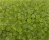 5mm Frosted Green Glass Rocaille Beads, 500 ct Bag