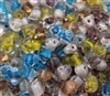 8mm Glass Rounded Triangle Beads, 100 ct Bag