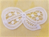 "4"" Battenburg Lace White Cotton Crocheted Bows Inserts"