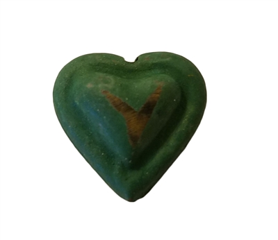 20mm Green & Gold Heart 3-D Metal Beads, 4 ct bag