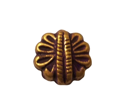 18mm Purple & Gold Metal Butterfly Shaped Beads, 4 ct Bag