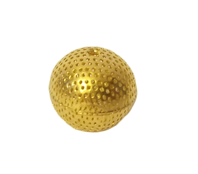 20mm Round Gold Filigree Hollow Metal Beads, 4 ct Bag