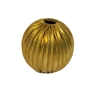 30mm Round Gold Tone Metal Fluted Beads, 4 ct Bag