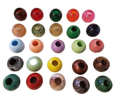 30MM Round Marbella Plastic Beads 4 ct. Bag