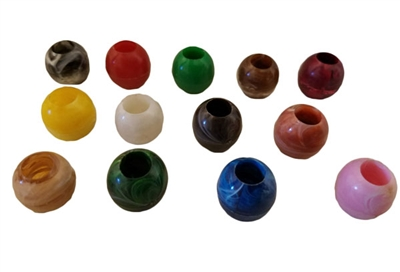 14MM Round Marbella Plastic Beads 8 Ct Bag