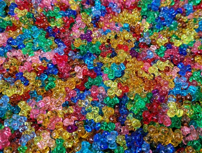 10mm Plastic Tri-Beads, 1,000 ct Bag