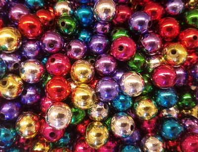 12mm Plastic Pearls Beads, 100 ct Bag