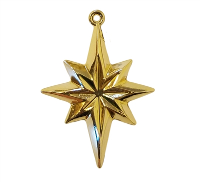 North Star Gold Plastic Craft Charms, 4 ct Bag