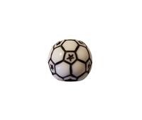12MM Soccer Ball Team Sports Plastic Beads, 12 Ct Bag