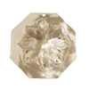 50mm Clear Crystal Faceted Puffy Flower Acrylic Pendant