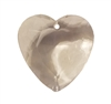 32mm Clear Crystal Faceted Heart Acrylic Pendants, 4ct Bag
