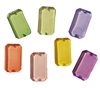 30mm x 18mm Rectangular Transparent Colored Gemstone Acrylic Beads, 4 ct Bag