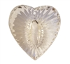 42mm Clear Crystal Sunburst Heart Acrylic Pendants, 4ct Bag