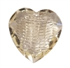 40mm Clear Crystal Heart Acrylic Pendants, 4ct Bag