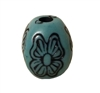 16MM Blue Butterfly Plastic Beads 8 Ct Bag