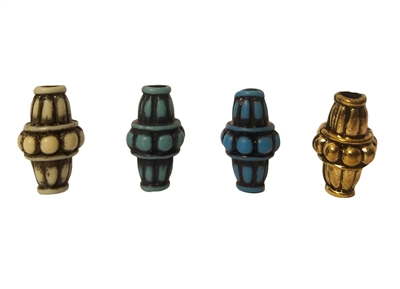 20MM Babylonian Bicone Hogan Plastic Beads, 12 Ct Bag