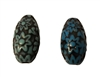 24MM Teardrop Floral Pattern Corrugated Plastic Beads, 8 Ct Bag