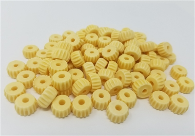 11MM Round Fluted Disc Plastic Spacer Beads, 100 ct bag