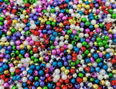 4mm Plastic Pearls Beads, 1,000 ct Bag