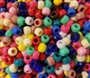 6mm x 9mm Plastic Pony Beads 100 ct Bag