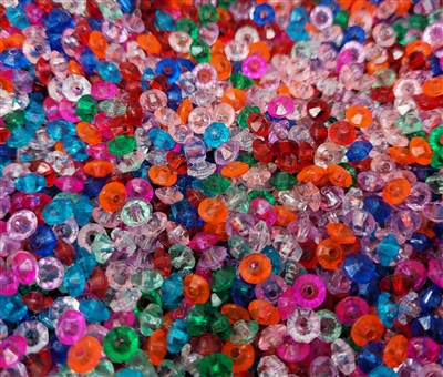 6mm Transparent Faceted Rondelle Plastic Spacer Beads, 1,000 ct Bag