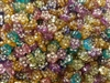 8mm Flower Diamonettes Rhinestone Plastic Beads, 100 ct Bag