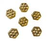 8mm Hexagonal Diamonettes Rhinestone Plastic Beads, 100 ct Bag