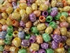 9mm Oval Tribal Patterned Plastic Beads, 100 ct Bag