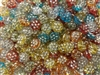 9mm Round Diamonettes Rhinestone Plastic Beads, 100 ct Bag