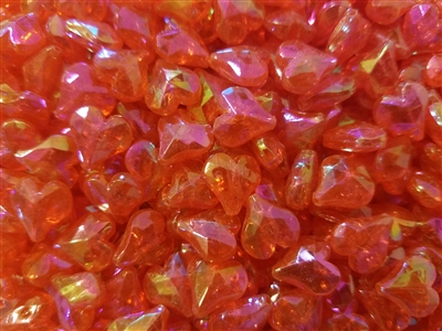 12mm Iridescent Faceted Heart-Shaped Plastic Beads, 1,000 ct Bag