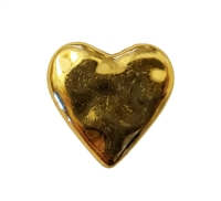 20mm Metallic Heart-Shaped Puffy Plastic Beads 8 ct